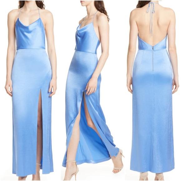 Alice + Olivia Dresses & Skirts - Alice & Olivia Eliza Cowl Neck High Slit Maxi